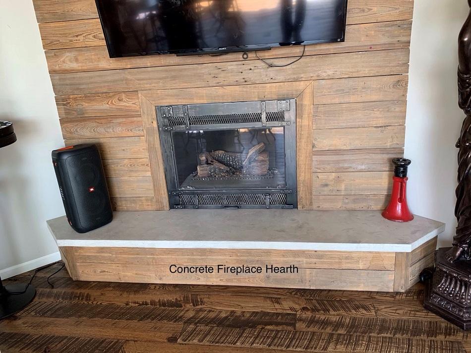 Concrete Fireplace Hearth